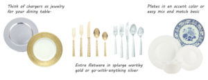 Hostess Essentials Chargers and Flatware