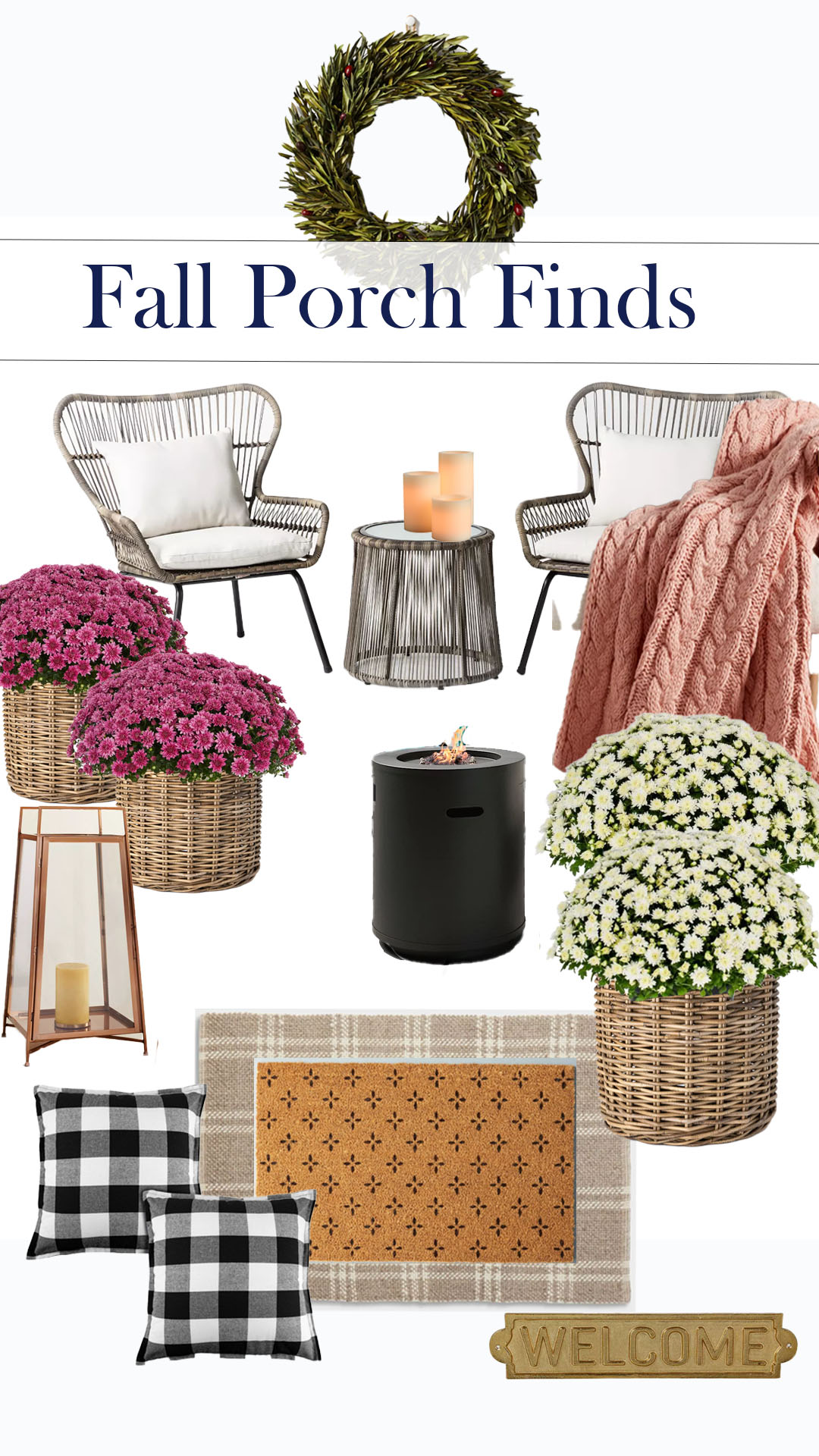 Fall front Porch Home Decor Shopping Finds from Target,