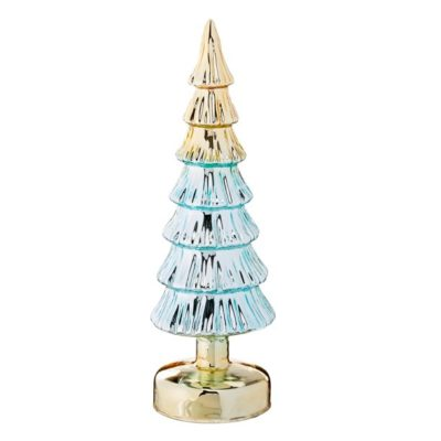 Blue Glass Tree Table Top Decoration